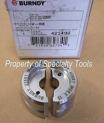 Burndy U26rt Stainless Crimper Crimping U Die Hydraulic Crimp 20 Cu Index 13