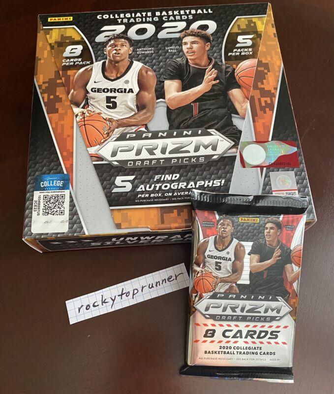1 Hobby Pack from box 2020 Panini Prizm Draft Picks Collegiate Basketball Auto