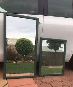 Mirror set. Thick glass, wood frame. Northgate Port Adelaide Area Preview