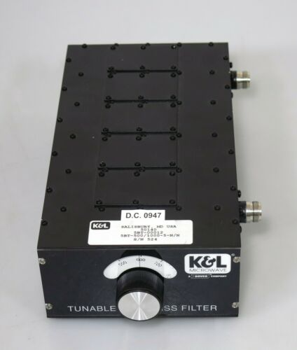 Bandpass Filter  K&L Microwave 5BT-500/1000-5-N/N