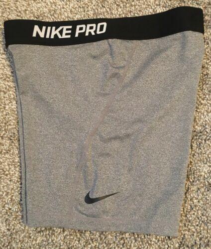 Nike Girls Pro Shorts Compression Dri-Fit Size Small 912926 063 Grey Black
