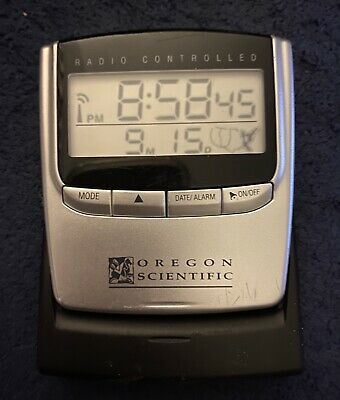 Oregon Scientific Radio Controlled Travel Clock Model RM826 Preowned