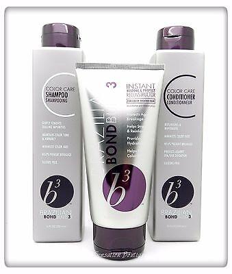 Brazilian B3 Bond Builder Color Care Shampoo / Conditioner & Treatment Set/Kit