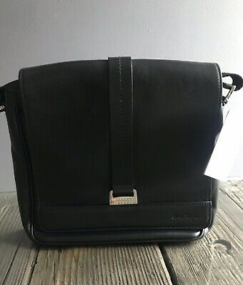 SALVATORE FERRAGAMO CROSSBODY BAG CALFSKIN LEATHER BLACK MADE IN ITALY NEW $895