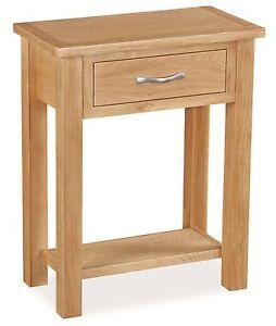 newlyn oak telephone table light oak hall table modern oak side table ebay. Black Bedroom Furniture Sets. Home Design Ideas