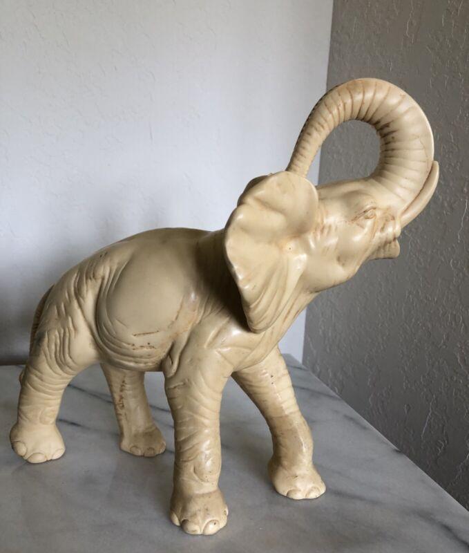 "LARGE ELEPHANT -SAFARI -FIGURINE - Trunk Up- 10"" x 12"""