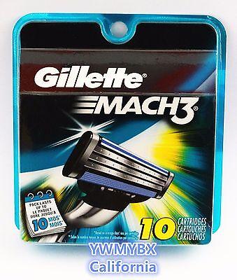 GILLETTE MACH3 Razor Blades,10 Cartridges,Original package,Brand New, #B00A