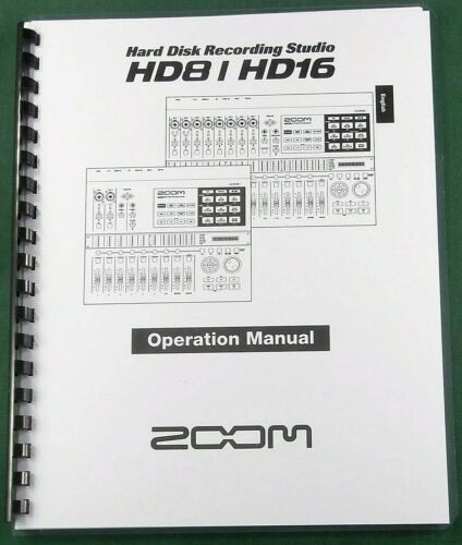 Zoom HD8 / HD16 Operation Manual: Comb Bound & Protective Covers!