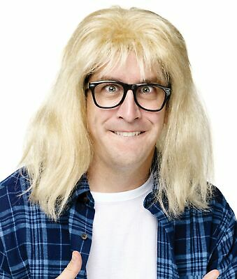 Snl Garth Algar Wayne'S World Licensed Wig Hair Glasses Adult Mens Costume (Waynes World Garth Wig)