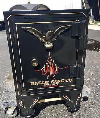Rare Antique Restored Eagle Safe Co. Like Halls And Mosler Cincinnati Small