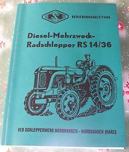 Traktor Famulus RS 14 / 36 Bedienungsanleitung Katalog RS14/36 Luftgekühlt neu