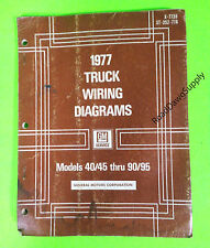 1977 Chevy GMC Truck Wiring Diagrams Service Manual 40 45 ...