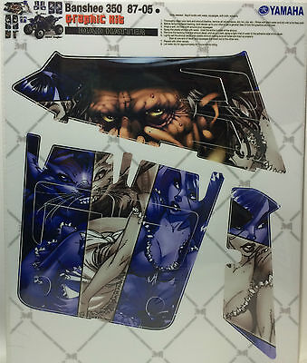 AMR Racing Graphics Kit Clearance Sale For Yamaha BANSHEE 350 87-05 MAD HATTER](Mad Hatter For Sale)