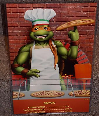 TMNT Michelangelo Pizza Parlor Glossy Art Print 11 x 17 In Hard Plastic Sleeve
