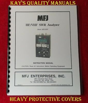 MFJ-259C HF/VHF SWR Analyzer Instruction Manual 😊C-MY OTHER MANUALS😊. Buy it now for 19.95
