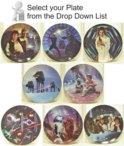 Star Wars 10th Anniversary Hamilton Plate Collection- Your Choice of 8 or Set