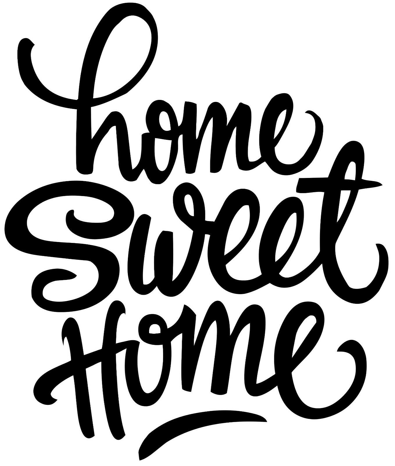 Home Decoration - HOME SWEET HOME  vinyl decal for cars walls tumblers cups laptops window