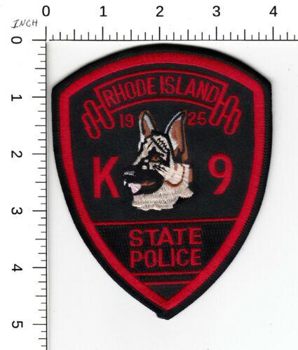 RHODE ISLAND STATE POLICE K9 PATCH CANINE DOG K-9 RI