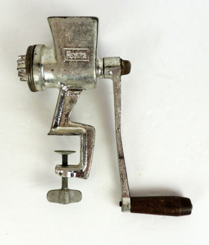 Sears Vintage Meat Grinder? Metal With Wood Handle Counter Mount