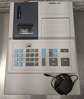 Swintec Sw20 Cash Register Electric Battery Power No Keycasemanual Read Desc