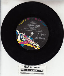 THE-ANGELS-Tear-Me-Apart-7-45-rpm-vinyl-record-juke-box-title-strip-RARE