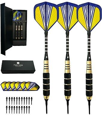 heinsa Soft Darts 18g Soft Dartpfeile Kunststoffspitze SoftDarts Set Dart Pfeile