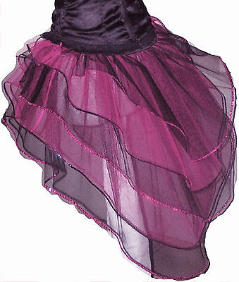 Burlesque Halloween-party (Baby Pink Black Bustle Burlesque Fairy barbie Tutu Skirt dance Halloween party)