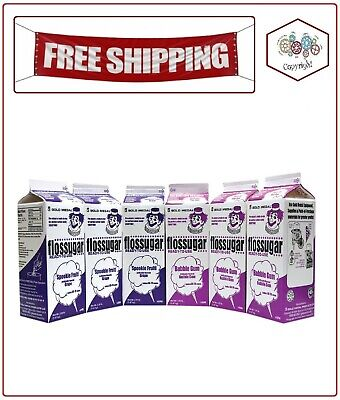 Gold Medal Grape And Bubblegum Flossugar Combo Pack 6 Ct.