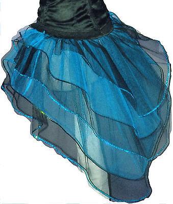Burlesque Halloween-party (Blue Black Bustle Burlesque Fairy barbie Cyber Tutu Skirt dance Halloween party)