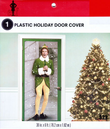 "ELF - Plastic Holiday Door Cover - 30"" x 72"" ft. Buddy the Elf (Will Ferrell)"
