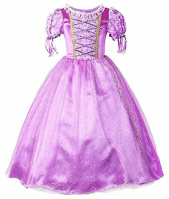 Fancy Dresses For Girls (Rapunzel Dress Girls Princess Costume Party Dress Up Cosplay Kids Fancy)
