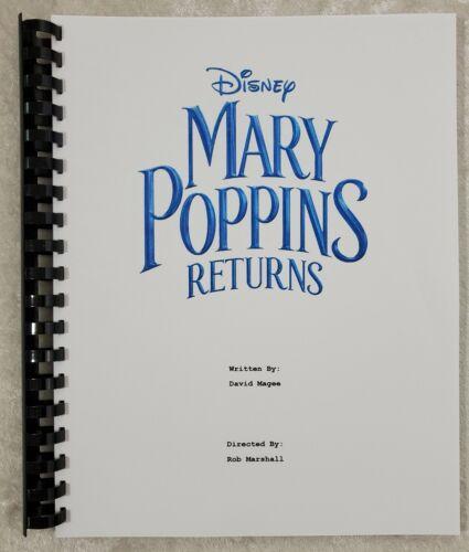 Mary Poppins Returns Movie Script Reprint Full Script 2018 Lin-Manuel Miranda
