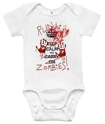 Baby Bodysuit - Run Zombies Baby Clothes for Infant Boys and Girls](Baby Zombie Clothes)