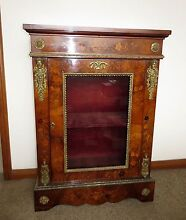 Antique Display Inlaid Walnut Pier Cabinet c1860s Westmead Parramatta Area Preview
