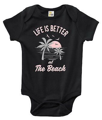 Baby Bodysuit - Life is Better at the Beach Baby Clothes for Boys and