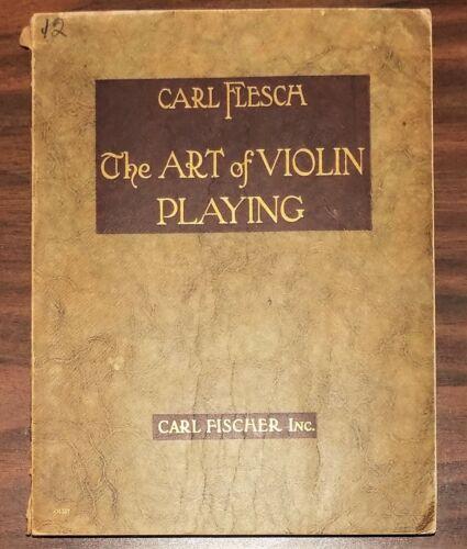 Music instruction CARL FLESCH - ART OF VIOLIN PLAYING 1924 instrument technique