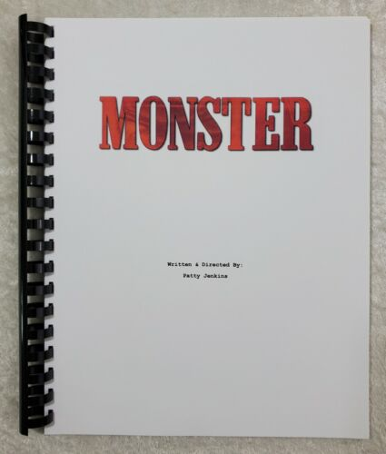 Monster Movie Script Reprint Full Screenplay Script 2003 Film Charlize Theron