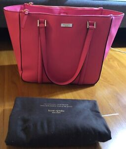 Kate spade saffiano leather tote in pink