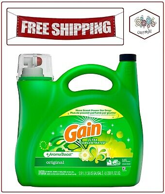 Gain + AromaBoost Ultra Concentrated Laundry Detergent Original 146 lds, 200 oz. Ultra Laundry Detergent