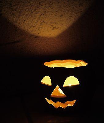 Halloween Kürbisse Spiel (Halloween - 4 St. Herbst Windlicht Kürbis für Teelichter Deko, klasse Lichtspiel)