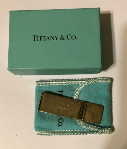 925 Sterling Silver Tiffany & Co Money Clip monogrammed 20.38 grams