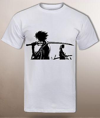 Samurai champloo, anime t shirt, Mugen and Jin, the edo era, men simple tee