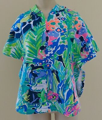 LILLY PULITZER ASHLEE COVER UP NWT Girls Large 8-10 Purrfect Beach Hooded Poncho - Girls Hooded Poncho