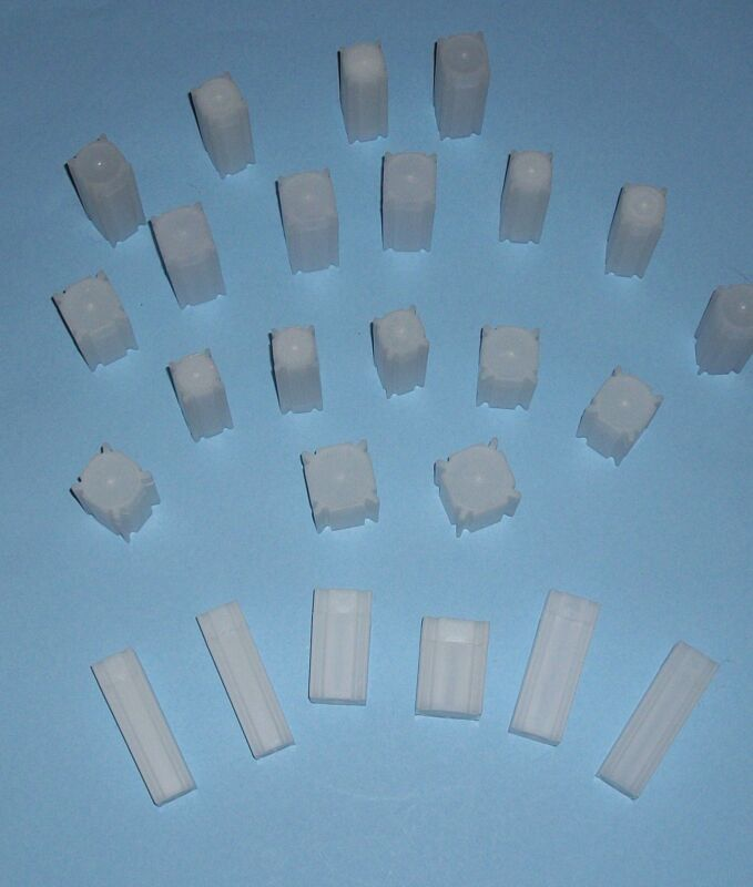TEN (10) You Pick-Assorted Sizes SQUARE Coin Tubes - COIN SAFE- Made in America