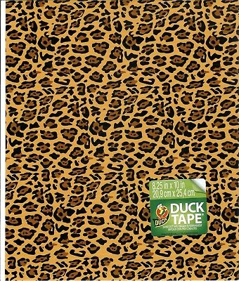 6 Pack Duck Brand Duct Tape Sheets Leopard 8 1/2 inches by 10 inches
