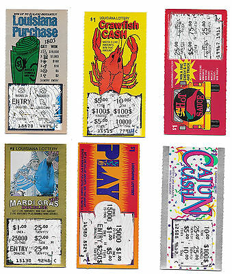 25 Assorted Used Non Winning Louisiana Lottery Scratch Off Tickets