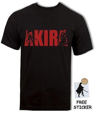 Akira Logo T-shirt Tetsuo vs Kaneda Classic Retro Anime Movie Tee Unisex S - 4XL