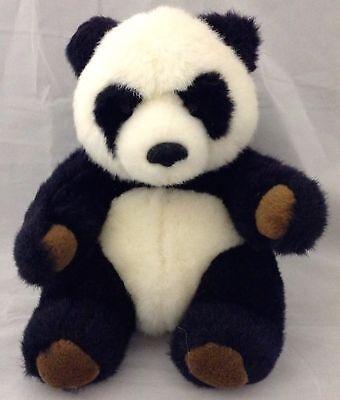 Small Plush Panda Bear 8 Inches Tall Brown Paw Pads Very Good Condition Kawaii - Kawaii Panda Plush