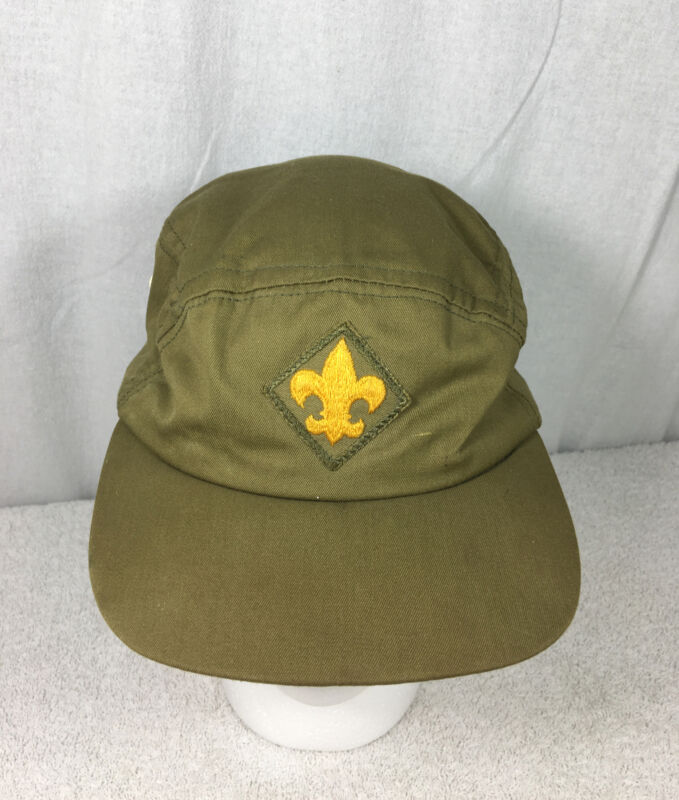 Vintage Boy Scouts of America Hat Cap BSA Baseball Sewn Patch Logo