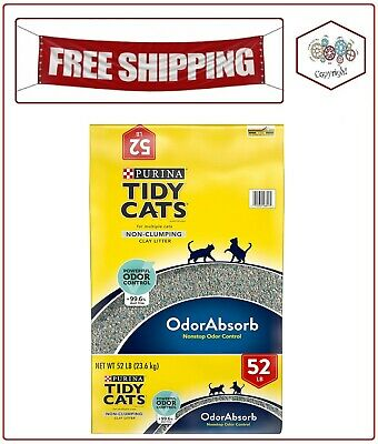 Purina Tidy Cats Non-Clumping Cat Litter for Multiple Cats (52 - Non Clumping Cat Litter